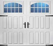 Vertical panel white garage door