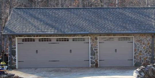 Tan Carriage Garage Door | Aaron Overhead Garage Doors | Monterey GA