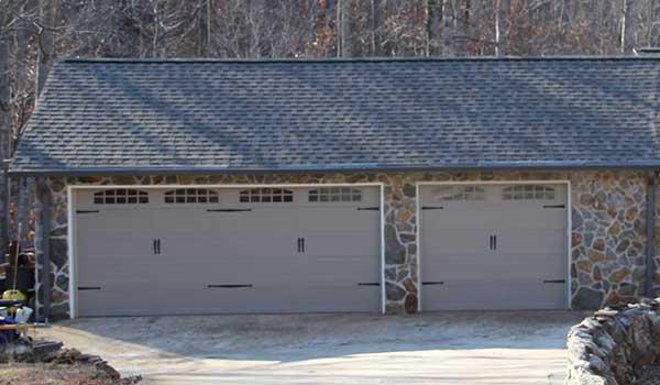 Tan Carriage Garage Door | Aaron Overhead Garage Doors | Monterey GA