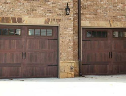 Double Carriage Accent Garage Door
