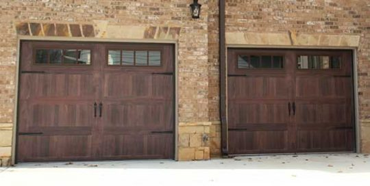 Double Carriage Accent Garage Door | Aaron Overhead Garage Door | Monterey GA