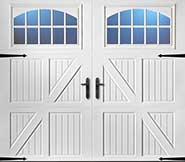 Flat panel custom garage door