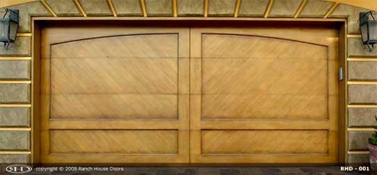 New ranch house garage doors