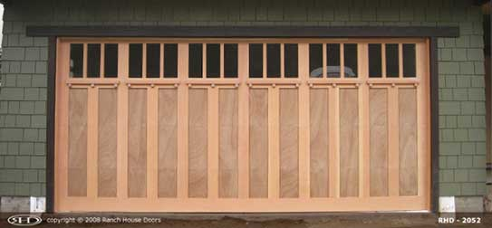 Install wood garage door