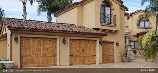New wood garage door