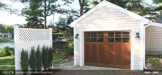 Wood Garage Doors A Perfect Accent To Your Monterey Or