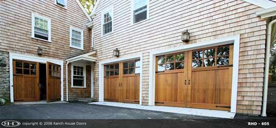 Wood garage door installation
