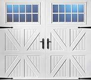 Solid vertical custom garage door