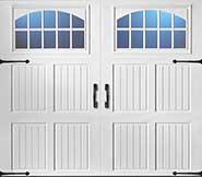 Solid vertical panel garage door